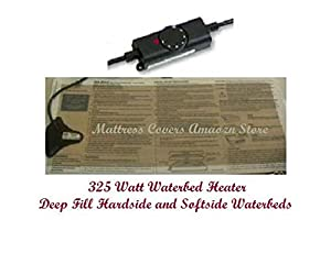 Waterbed heater for California king, queen & single hardside waterbed mattresses