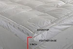 Luxurious Down-top Baffle Box 5-inch Gusset Feather Bed