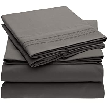 Mellanni Bed Sheet Set- Brushed Microfiber 1800 Bedding (Queen)