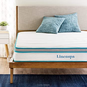 "LineSpa 8"" Memory Foam and Innerspring Hybrid Mattress"
