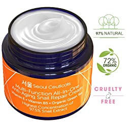 Korean Skin Care Snail Repair Cream - Korean Moisturizer Night Cream
