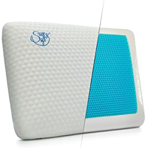 Save&Soft Gel Memory Foam Pillow - Reversible Orthopedic Sleeping Pillow