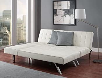 Emily Faux Leather Convertible Sofa