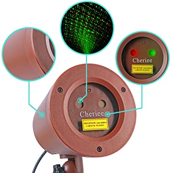 Cheriee Christmas Laser Lights - Outdoor Moving Star Projector