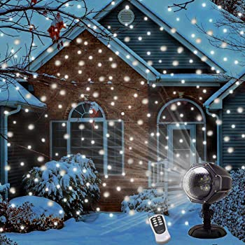 UPODA Christmas LED Snow Light Projector