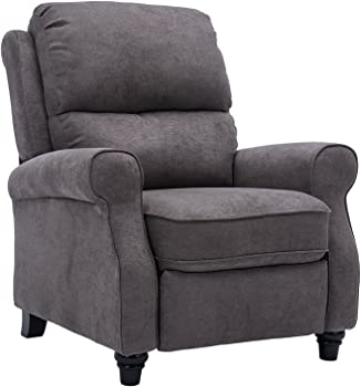 BONZY Roll Arm Push Back Recliner