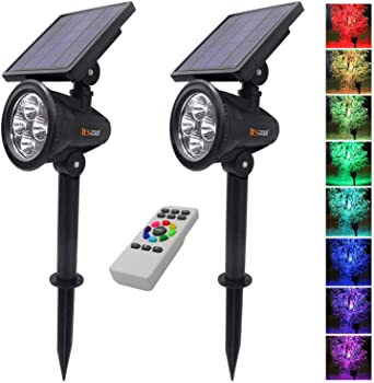 Itscool Solar Spotlights Outdoor Colored Landscape Lights