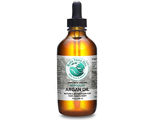 Argan Oil 4oz 100% Pure Moroccan Cold-Pressed Moisturizer for Skin and Hair