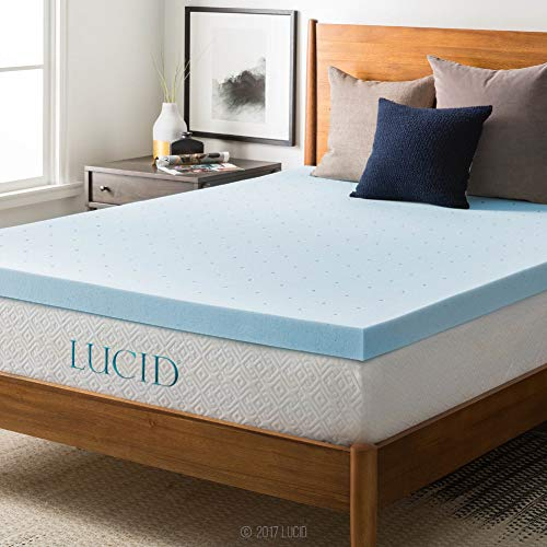 Lucid 3-inch Ventilated Gel Memory Foam Mattress Topper