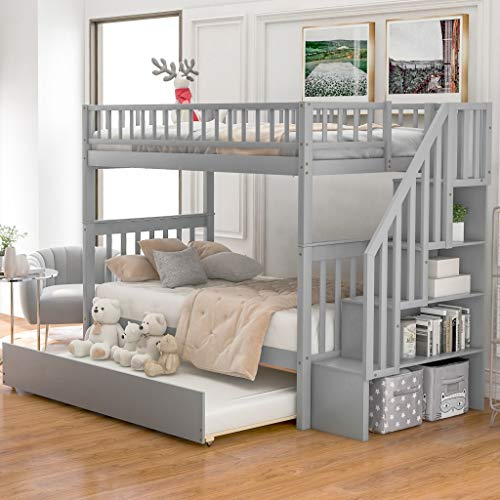 Harper & Bright Designs Bunk Beds Twin Over Twin Size